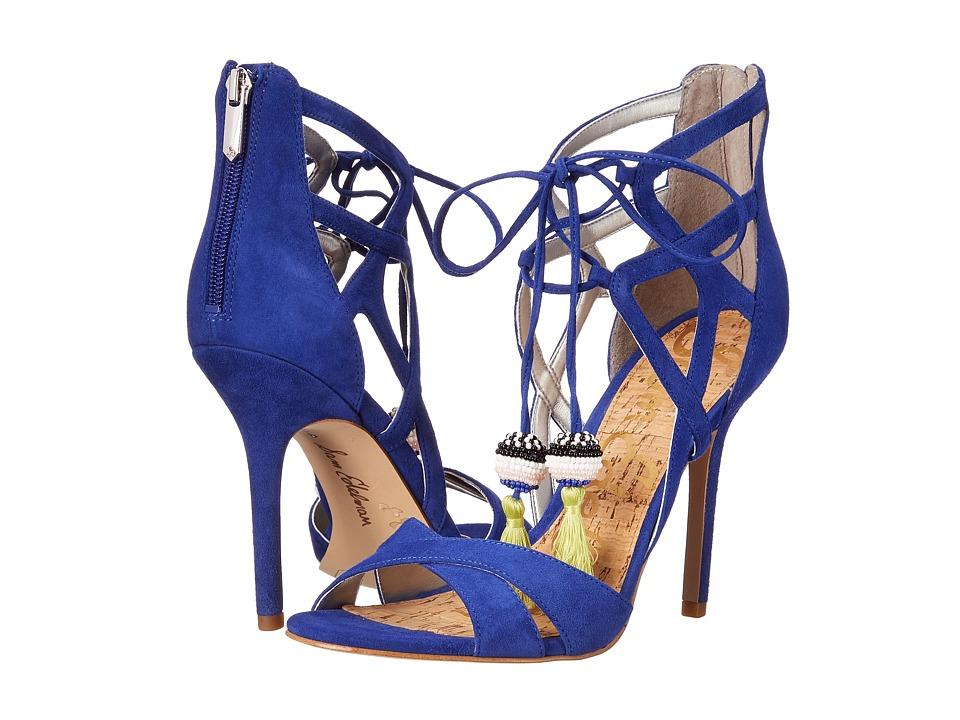Sam Edelman Azela Sailor Blue Kid Suede Leather High Heels