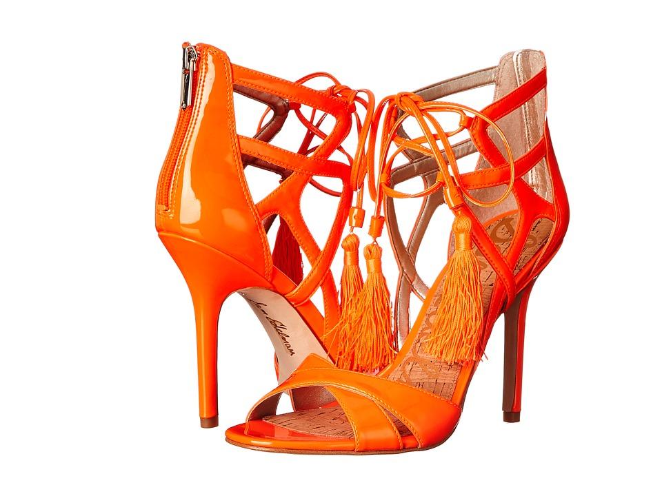 Sam Edelman Azela Neon Orange Patent High Heels