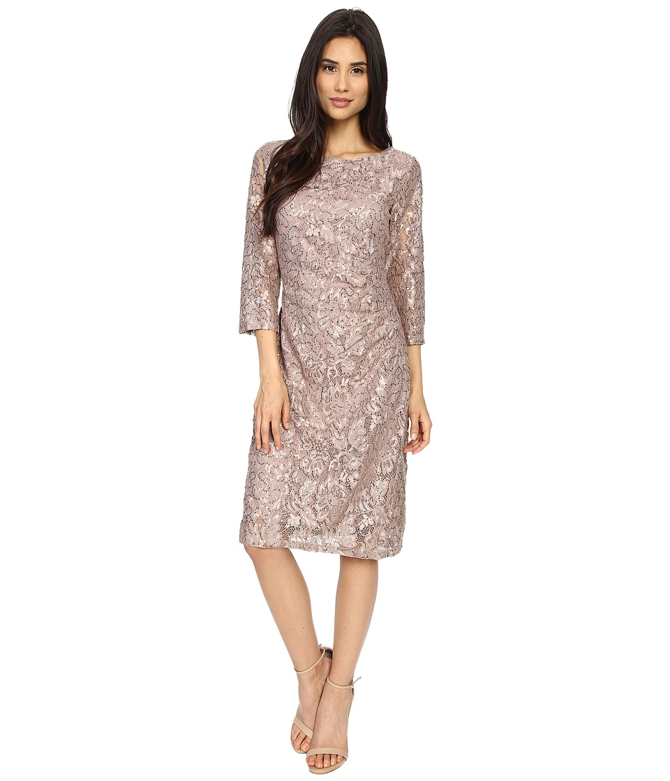 rsvp Becca Lace Dress with Rouche Side Champagne Womens Dress
