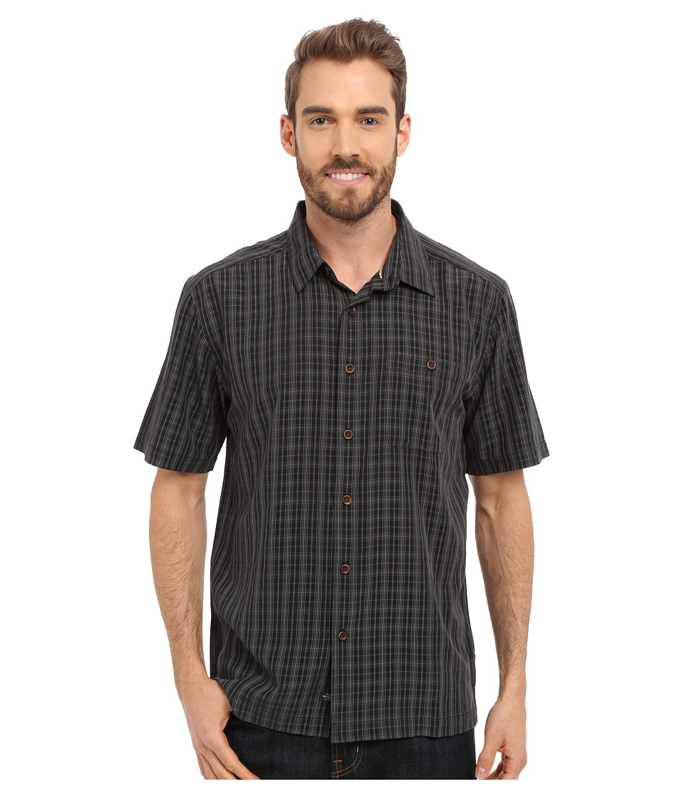 Quiksilver Waterman Banyon Woven Top Black Mens Short Sleeve Button Up