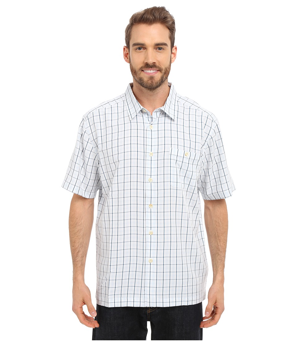 Quiksilver Waterman Banyon Woven Top White Mens Short Sleeve Button Up