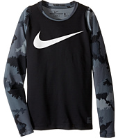 Nike Kids - Hyperwarm Long Sleeve AOP Crew Top (Little Kids/Big Kids)
