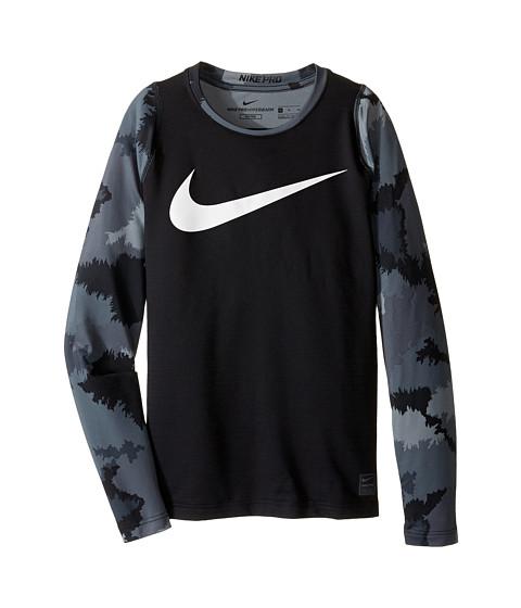 Nike Kids Hyperwarm Long Sleeve AOP Crew Top (Little Kids/Big Kids)
