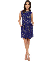 Vince Camuto - Scalloped Floral Lace Overlay Dress