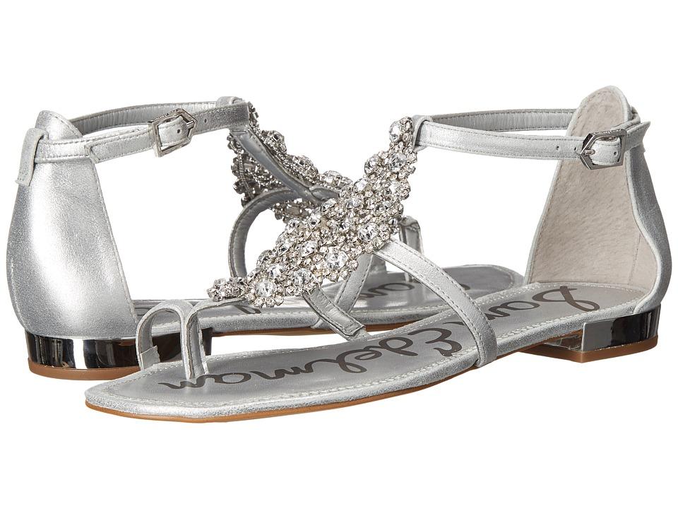 Sam Edelman Dillan Soft Silver Dreamy Metallic Leather Womens Dress Sandals