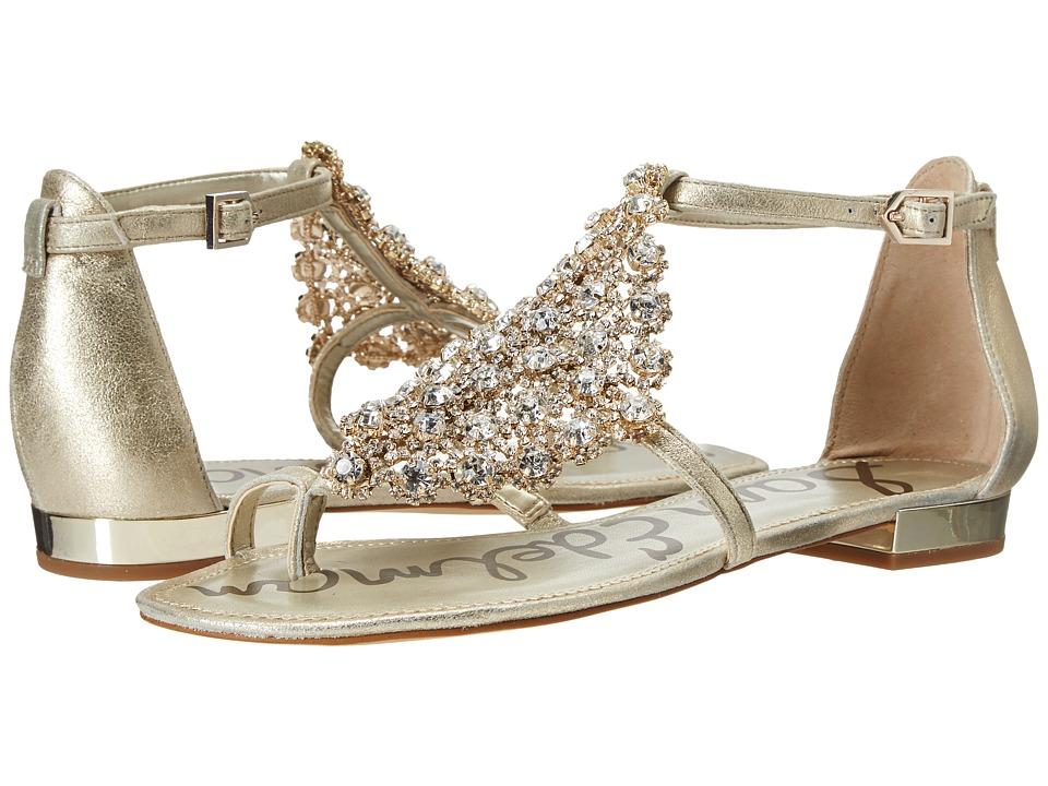 Sam Edelman Dillan Jute Dreamy Metallic Leather Womens Dress Sandals