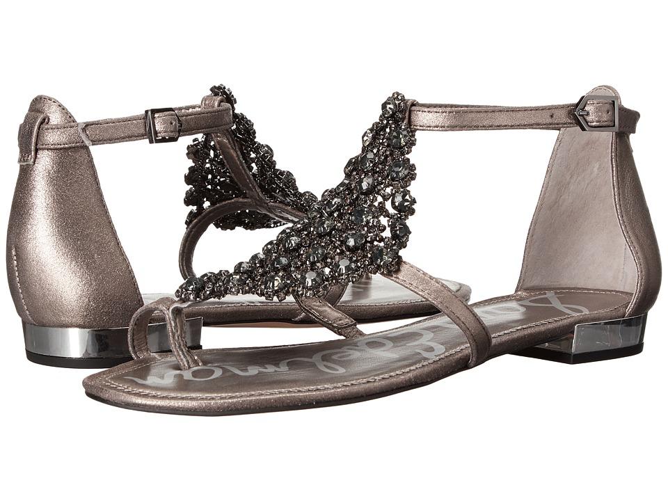 Sam Edelman Dillan Pewter Dreamy Metallic Leather Womens Dress Sandals