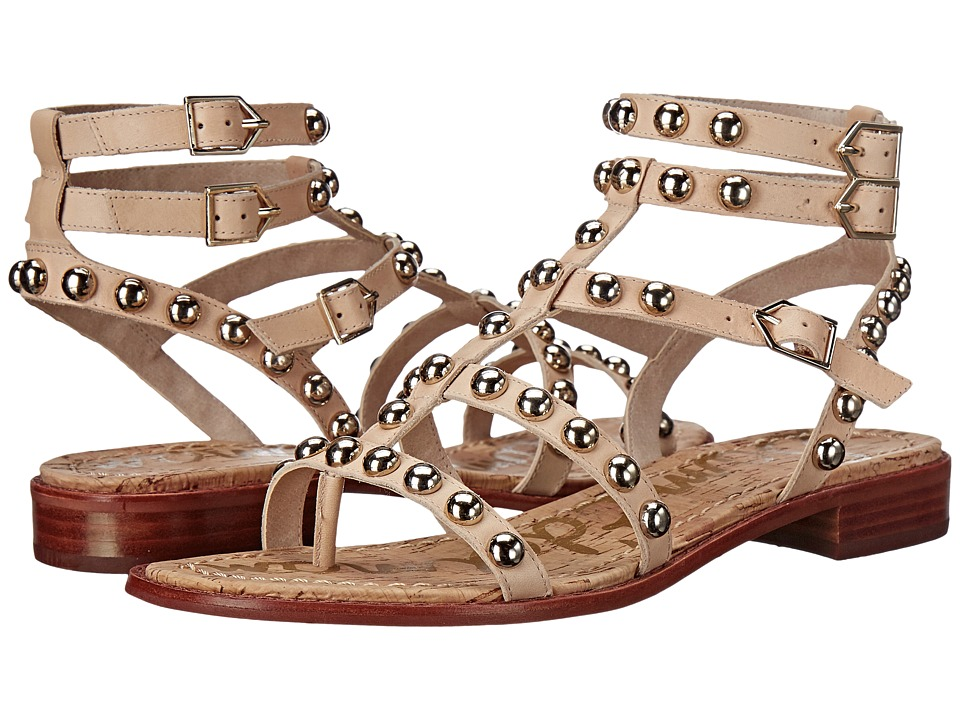 Sam Edelman Eavan Natural Naked Atanado Leather Womens Sandals