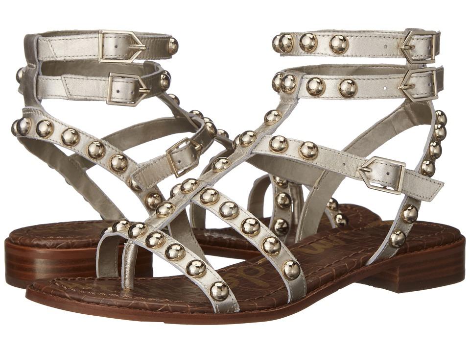 Sam Edelman Eavan Light Gold Leather Womens Sandals