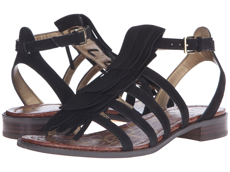 Sam Edelman Estelle Black Kid Suede Leather Womens Sandals