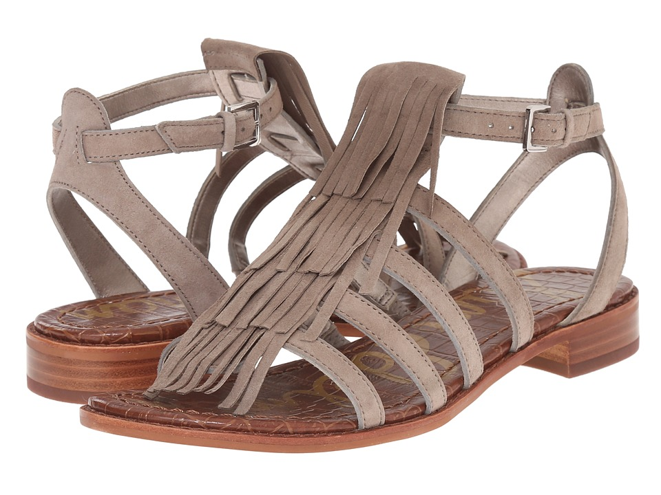 Sam Edelman Estelle Putty Kid Suede Leather Womens Sandals