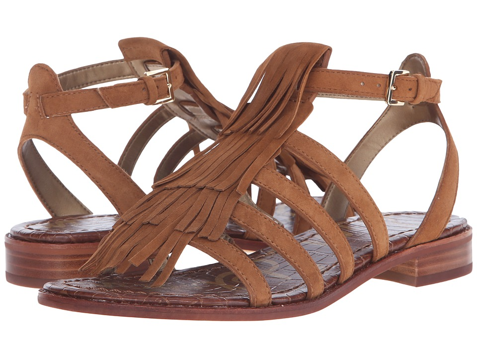 Sam Edelman Estelle Saddle Kid Suede Leather Womens Sandals