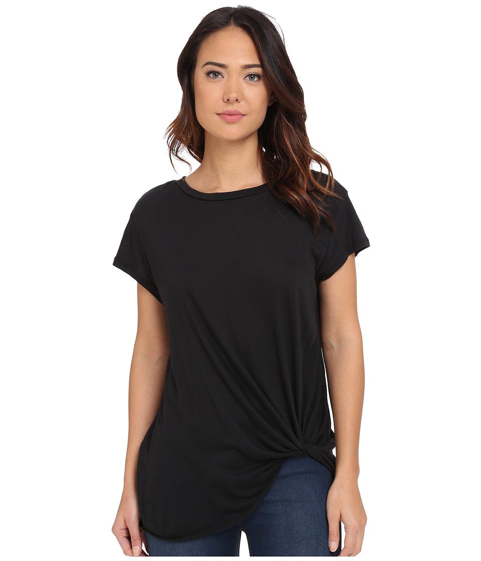 Brigitte Bailey Knot Front T-Shirt (Black) Women