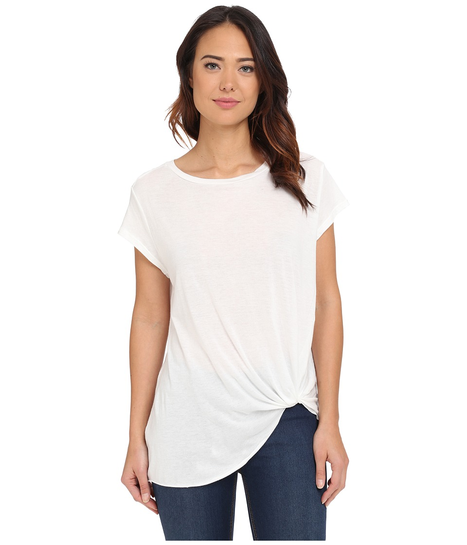 Brigitte Bailey Knot Front T-Shirt (White) Women