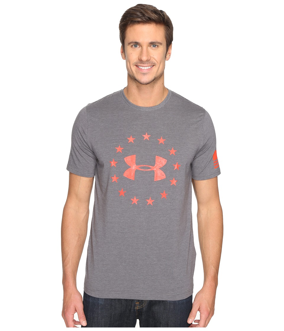 Under Armour - UA Freedom Tee (Carbon Heather 1) Men's T Shirt