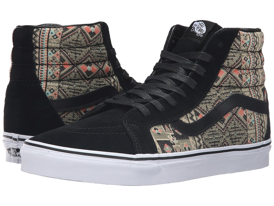 Vans SK8-Hi Reissue ((Moroccan Geo) Black/Ivy Green) Skate Shoes