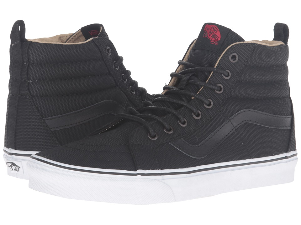 Vans SK8-Hi Reissue PT ((Military Twill) Black/True White) Skate Shoes