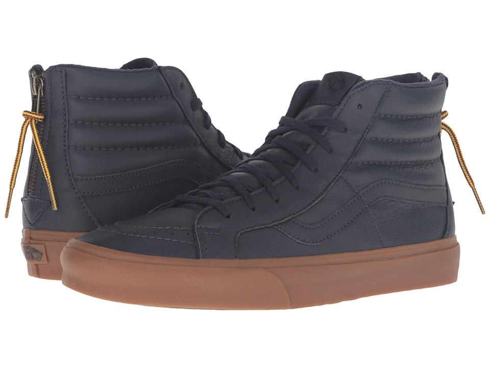 Vans SK8-Hi Reissue Zip ((Hiking) Navy/Gum) Lace up casual Shoes