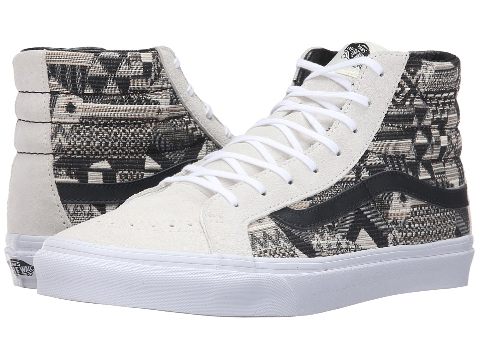 SK8-Hi Slim ((Italian Weave) White/Black) Skate Shoes