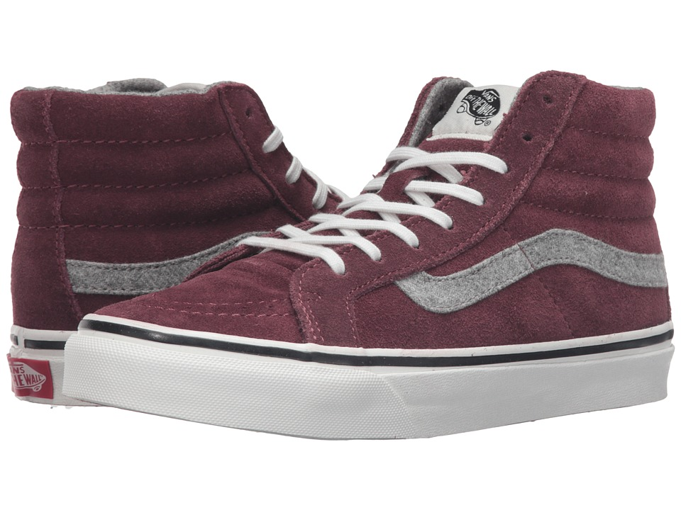 SK8-Hi Slim ((Vintage Suede) Red Mahogany) Skate Shoes