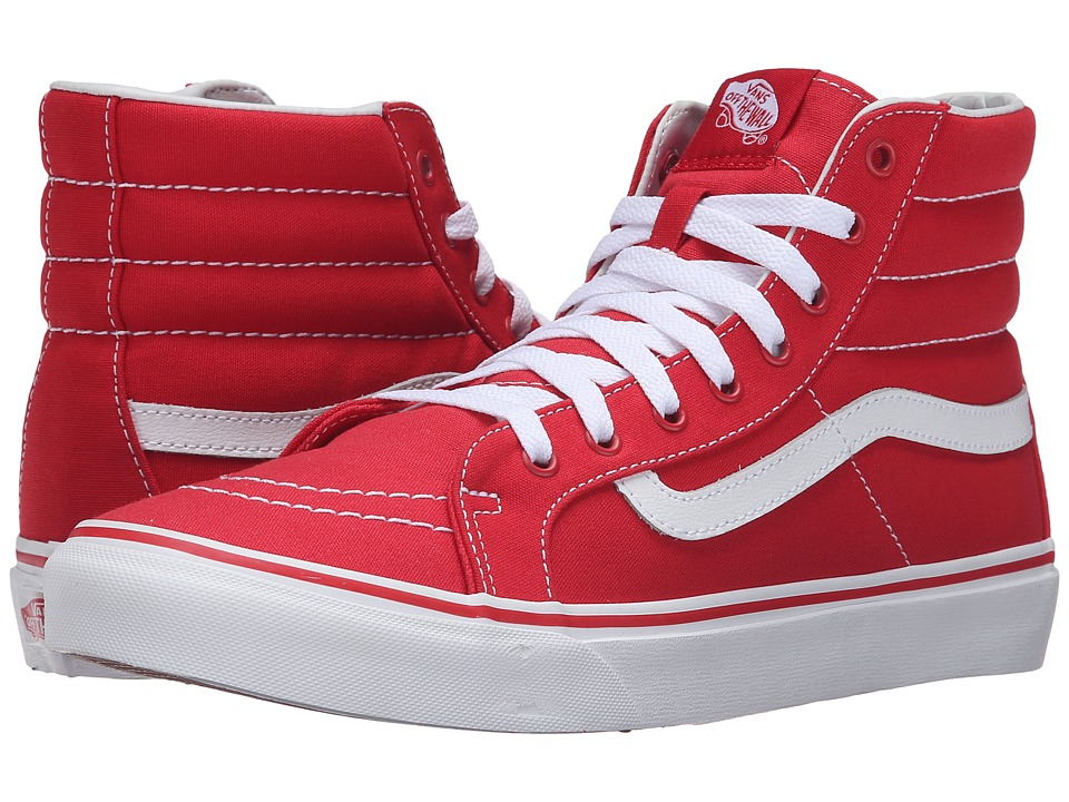 SK8-Hi Slim (Racing Red/True White) Skate Shoes