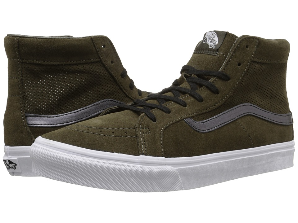 SK8-Hi Slim Cutout ((Perf Suede) Tarmac/True White) Shoes
