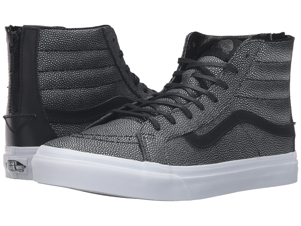 SK8-Hi Slim Zip ((Embossed Stingray) Black) Skate Shoes
