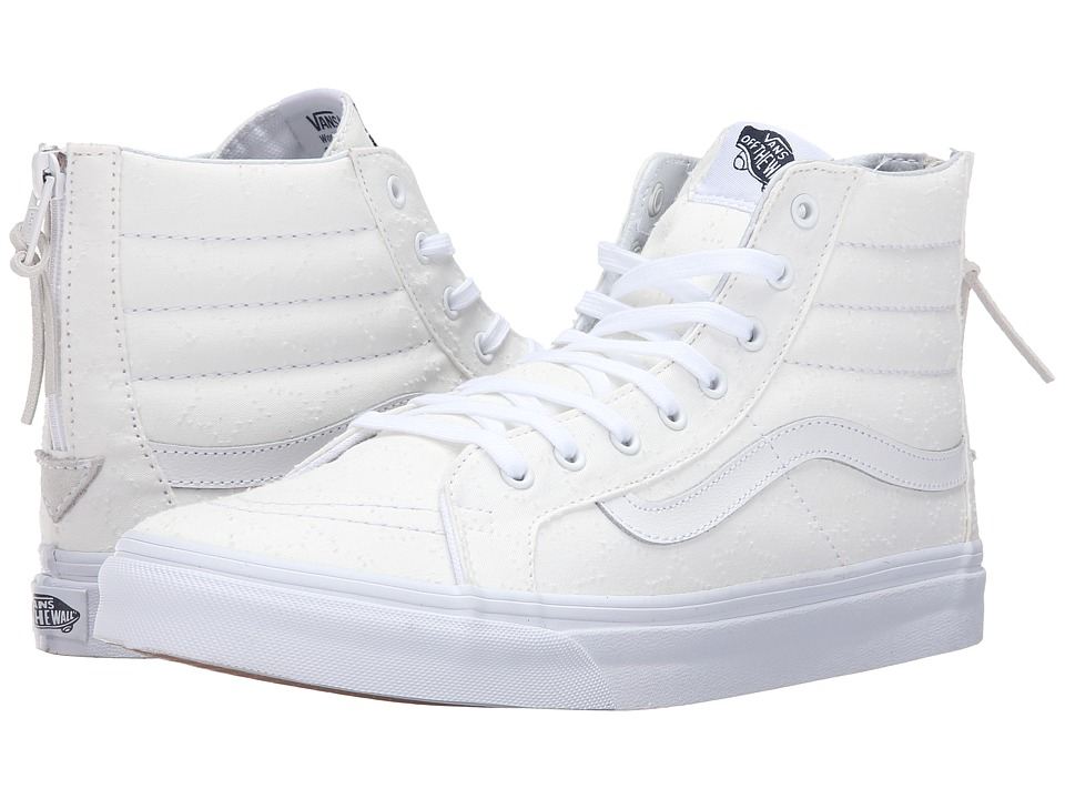 SK8-Hi Slim Zip ((Star Dots) True White/True White) Skate Shoes