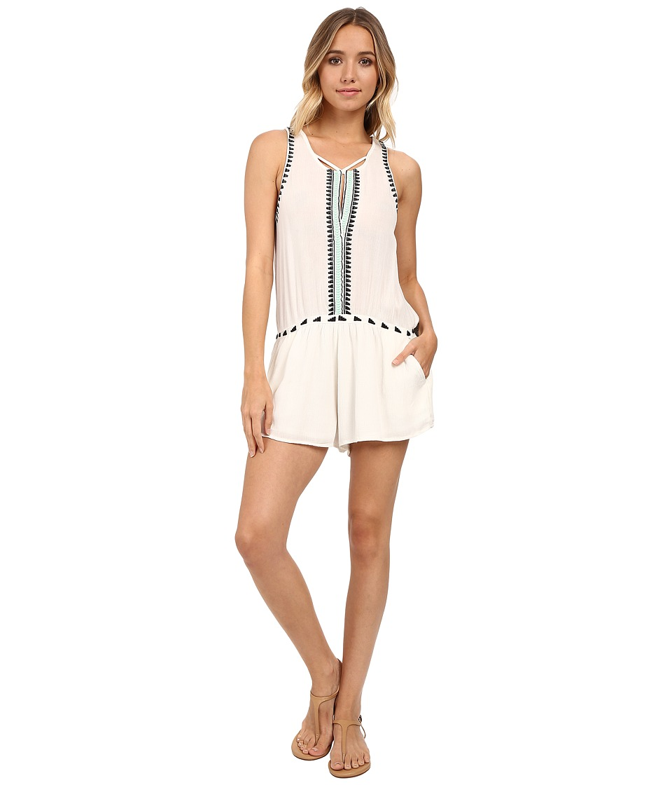 Rip Curl Electric Beach Romper Vanilla Womens Jumpsuit Rompers One Piece