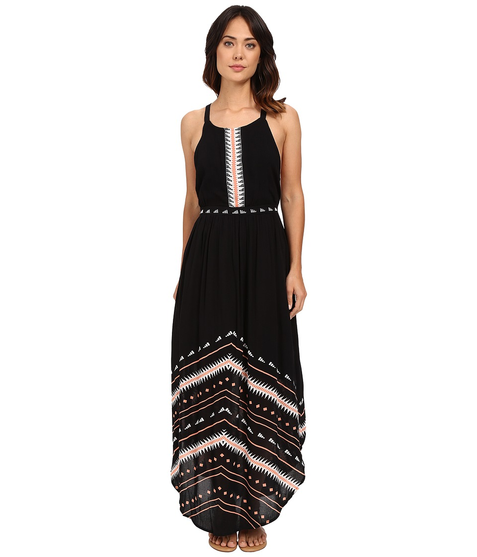 Rip Curl Electric Beach Maxi Dress Black Womens Dress