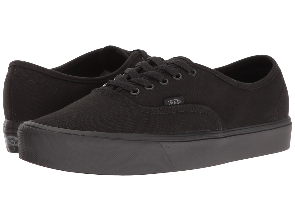 Vans Authentic Lite ((Canvas) Black/Black) Skate Shoes