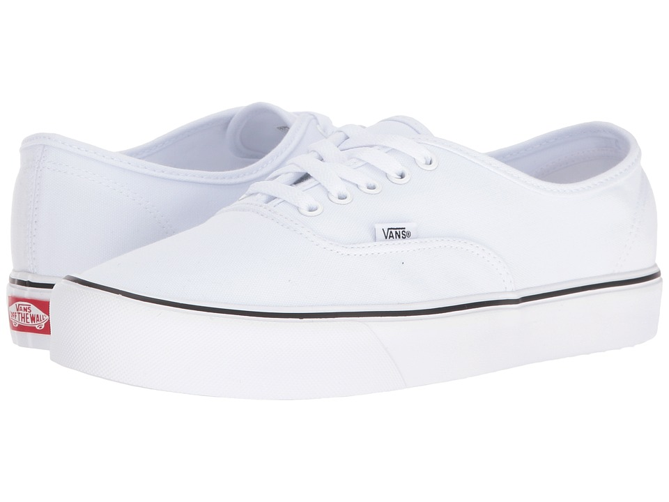 Vans Authentic Lite ((Canvas) True White) Skate Shoes
