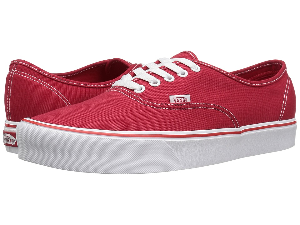Vans Authentic Lite ((Canvas) Red) Skate Shoes