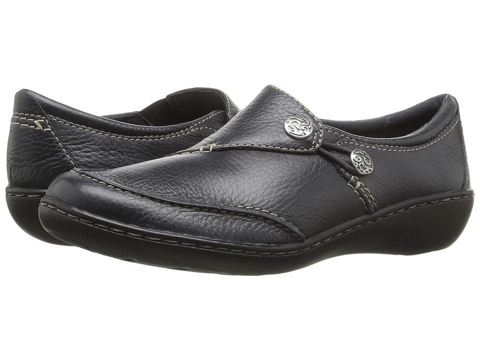 Clarks Ashland Lane Q (Navy) Women's Shoes