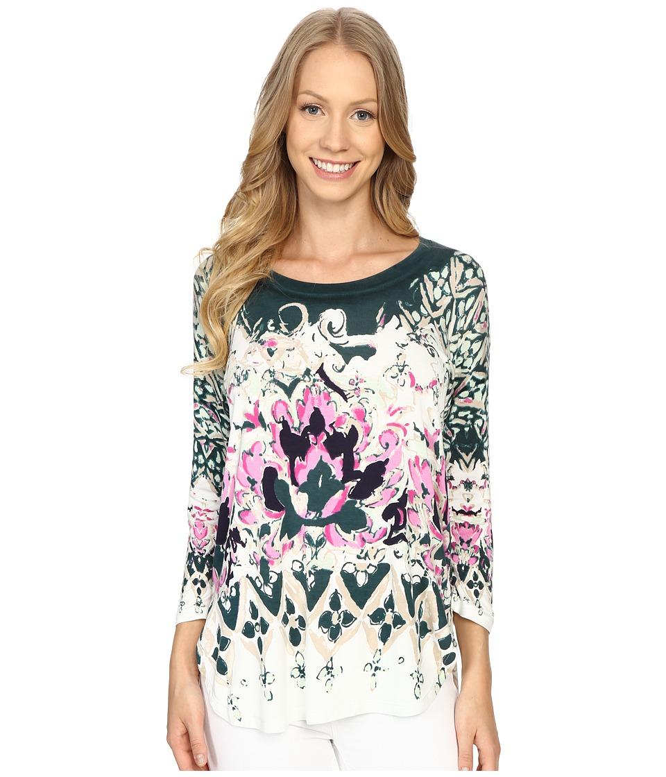 NICZOE Rosette Top Multi Womens Clothing