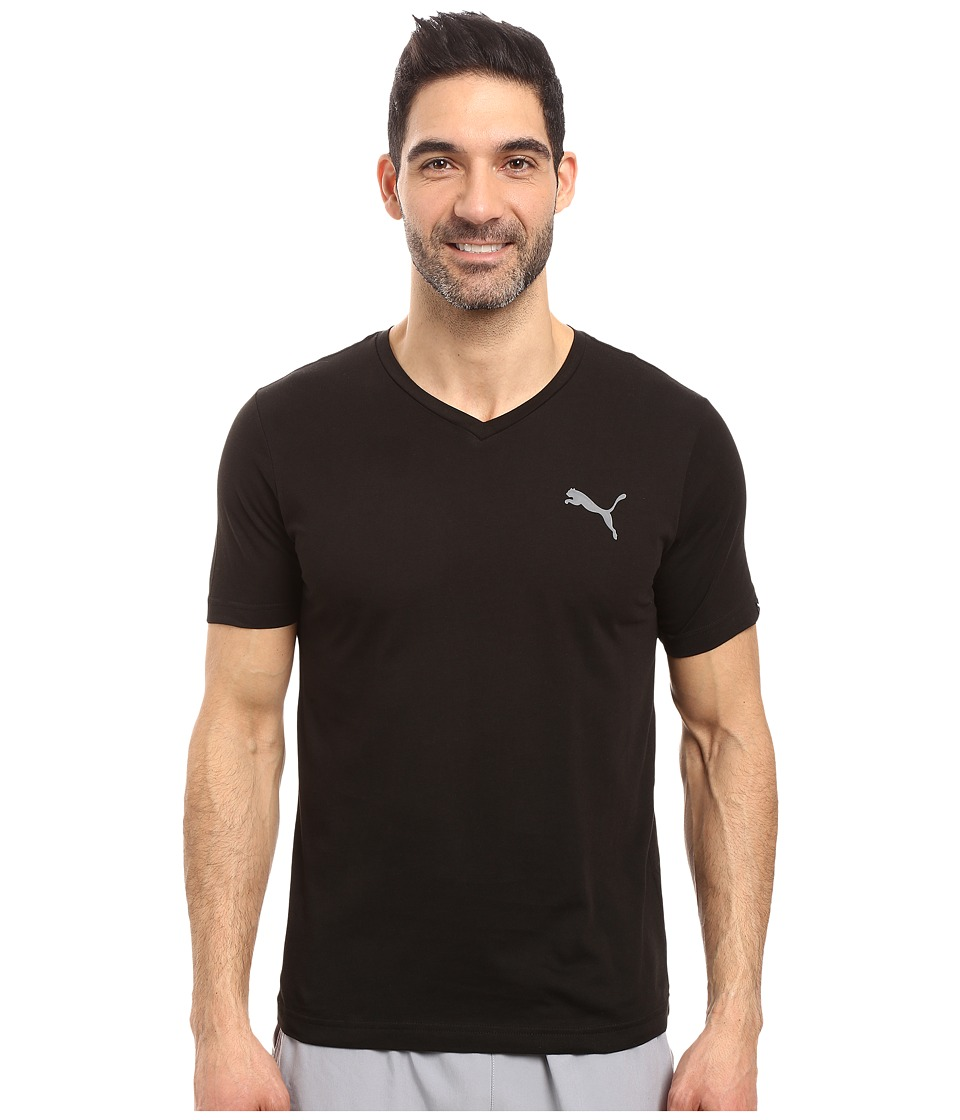PUMA Iconic V-Neck Tee (PUMA Black) Men