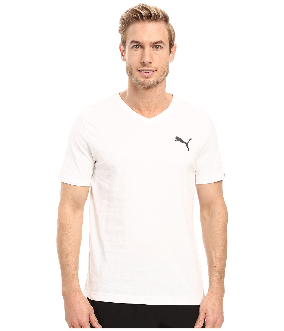 PUMA Iconic V-Neck Tee (PUMA White) Men