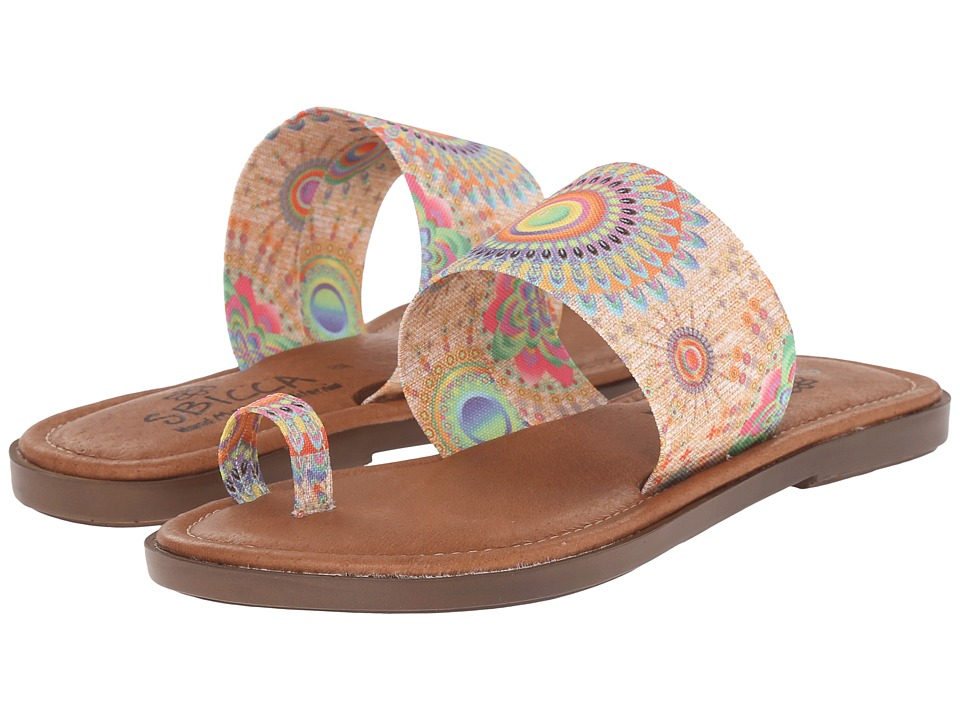 Sbicca Sunnyvale Natural Multi Womens Sandals