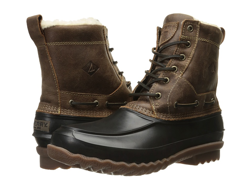 Sperry Top-Sider Decoy Shearling Boot (Brown) Men's Lace-...
