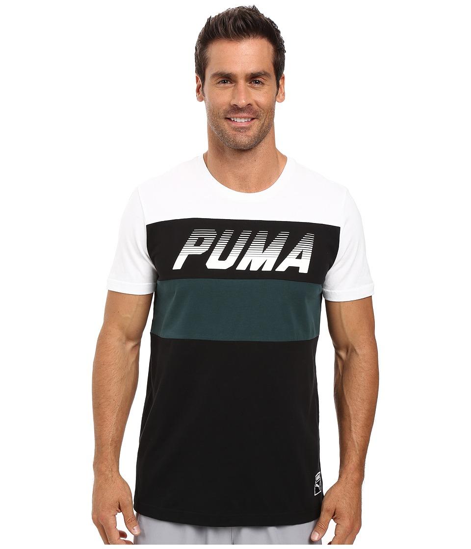 PUMA - Speed Font Tee (PUMA White) Men