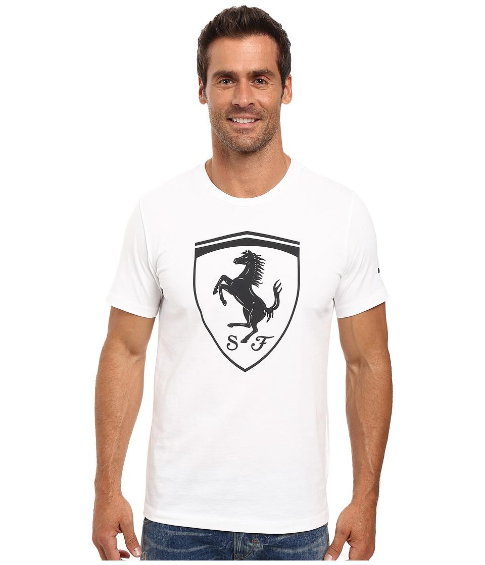PUMA - Ferrari Big Shield Tee (PUMA White) Men