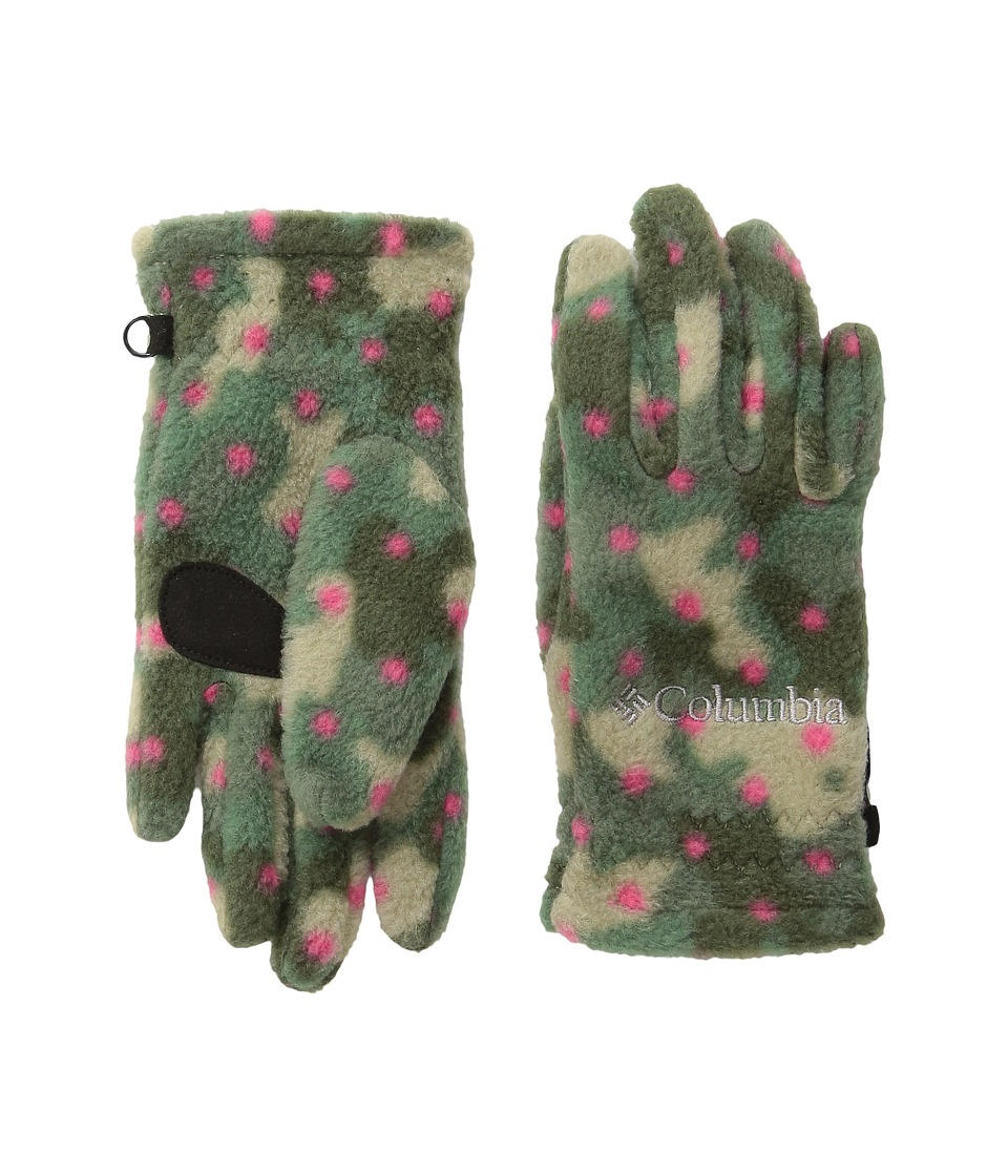 Columbia Fast Trek Glove (Big Kids) (Punch Pink Camo Dot Print) Extreme Cold Weather Gloves