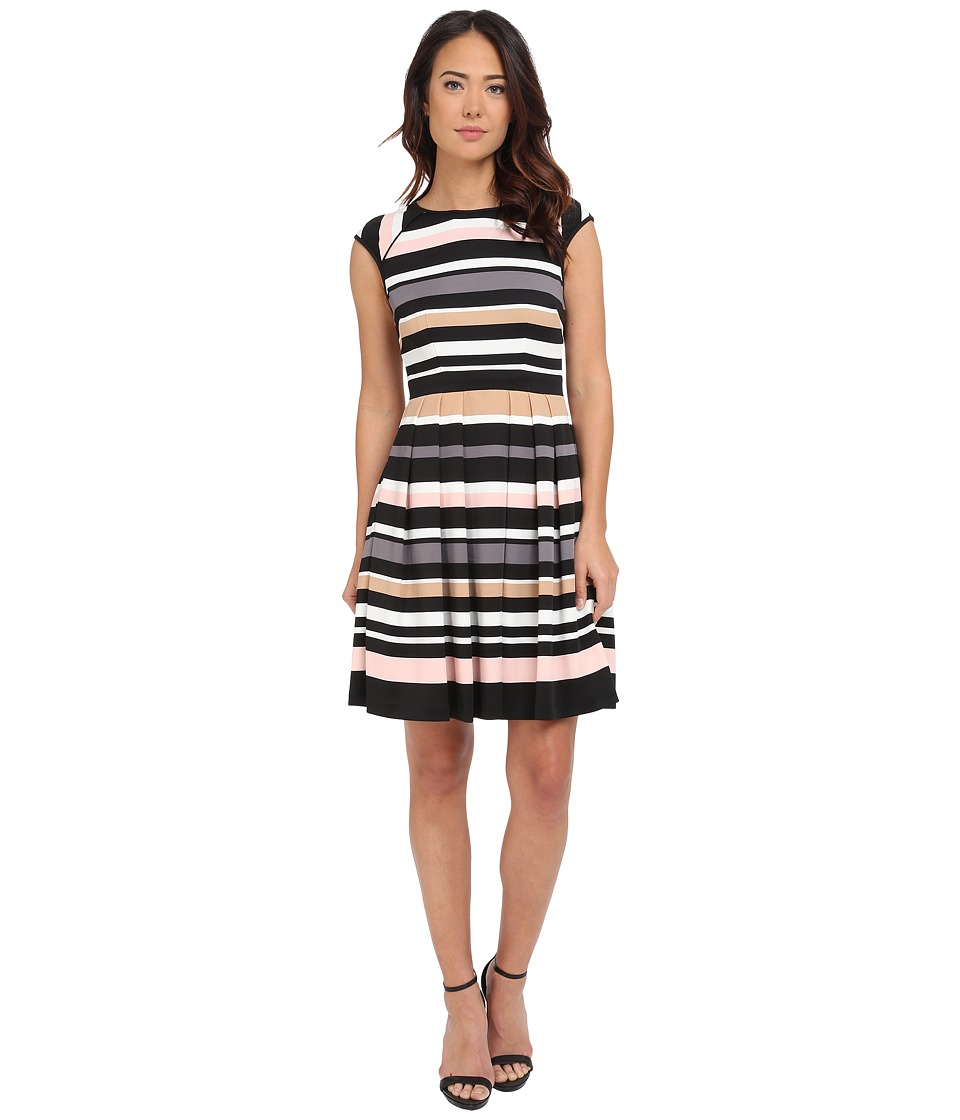 Vince Camuto Pleated Stripe Dress Multi Womens Dress