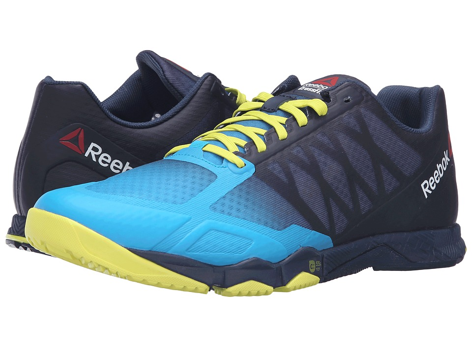 Reebok Crossfit Speed TR (Wild Blue/Collegiate Navy/Hero Yellow/Pewter) Men