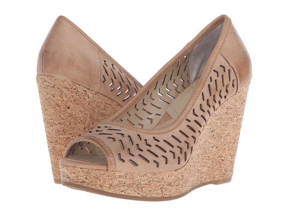 Adrienne Vittadini Carilena Terracota Burnished Leather Womens Wedge Shoes