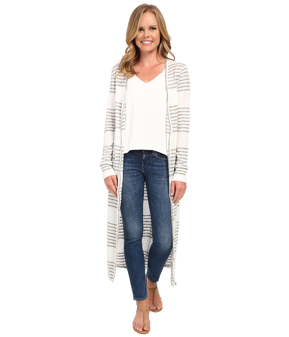 The Beginning Of Carmen Long Cardigan White/Heather Grey Womens Sweater