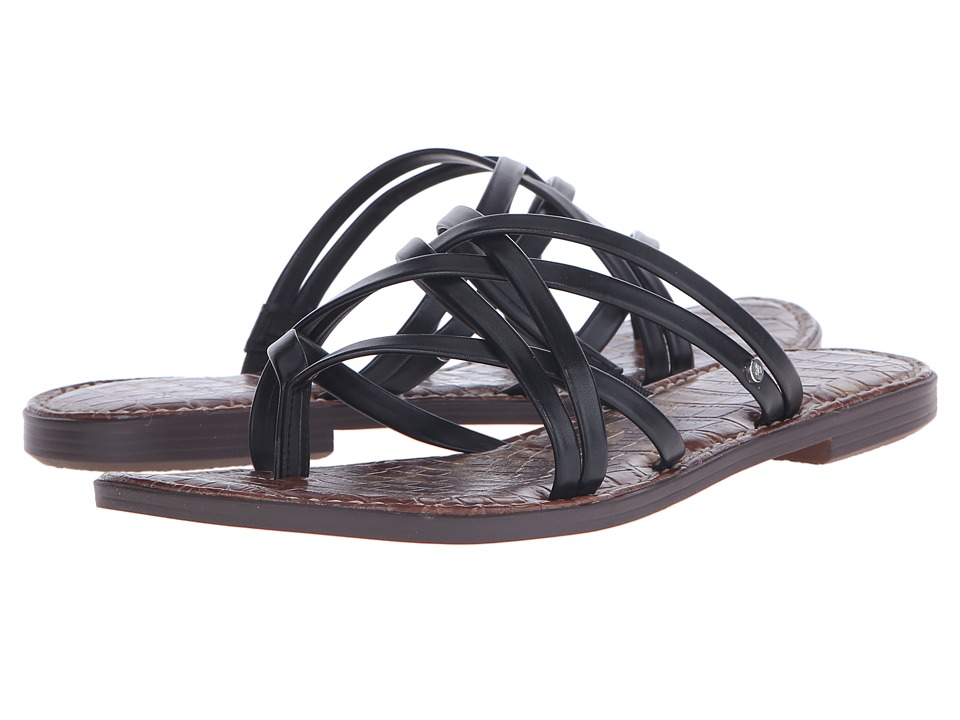 Sam Edelman Georgette Black Burnished Atanado Womens Sandals