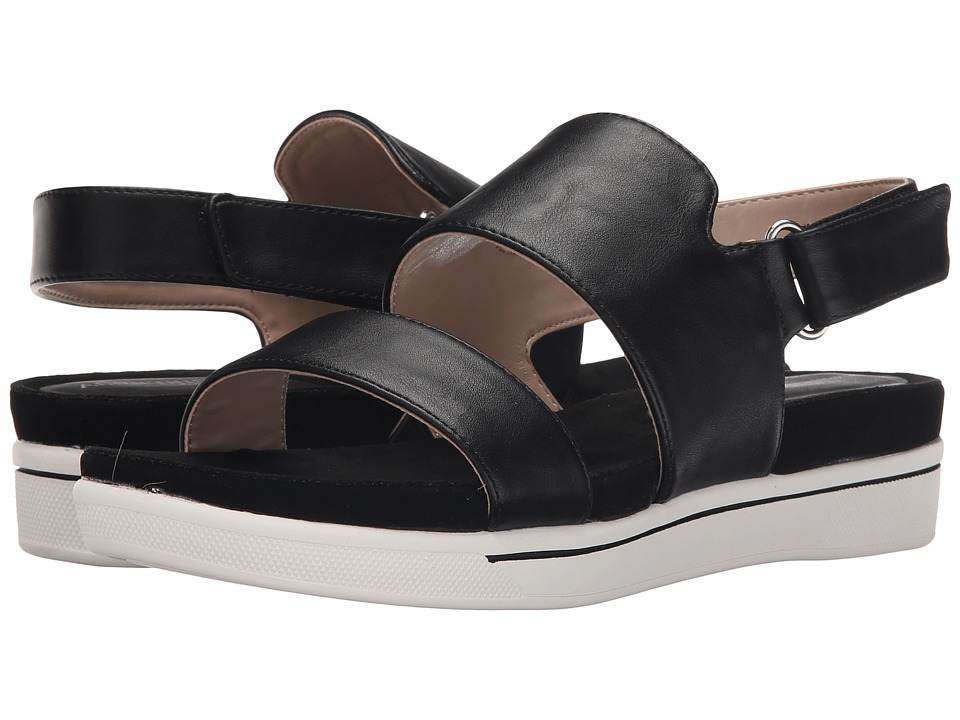 Adrienne Vittadini Chuckie Black Smooth Womens Sandals