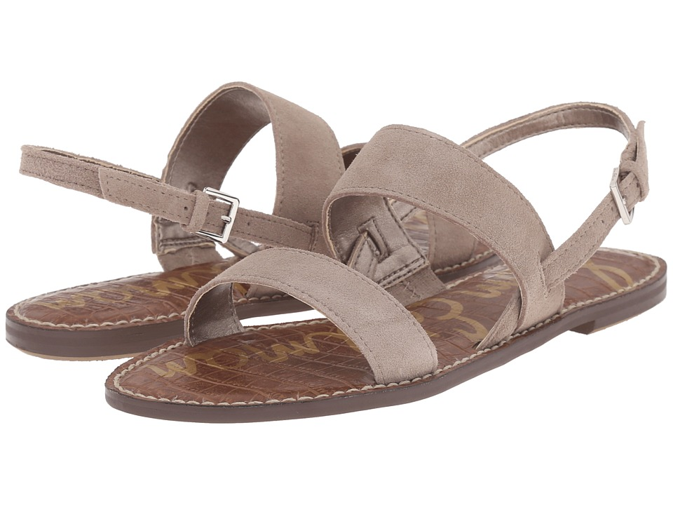 Sam Edelman Georgiana Putty Velour Suede Leather Womens Sandals