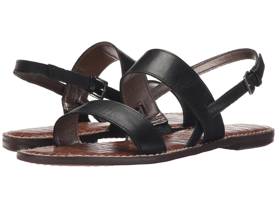 Sam Edelman Georgiana Black Vaquero Saddle Leather Womens Sandals